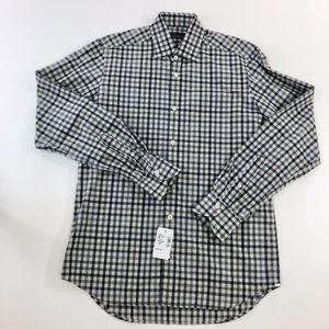 NWT SAKS 5TH AVENUE check shirt